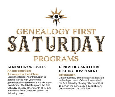 Genealogy and Local History Department Orientation (PLCH)