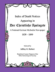 Index of Death Notices Appearing in Der Christliche Apologete, 1839-1899